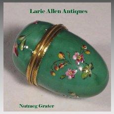 English Enamel Nutmeg Grater Pocket Size