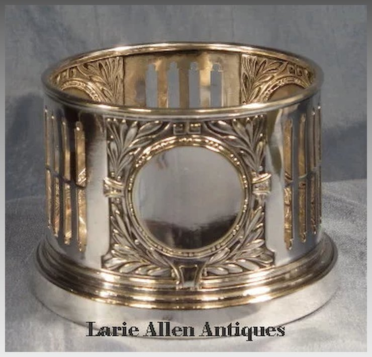 Kayser Silverplate Wine Bottle Holder & Kayser Silverplate Wine Bottle Holder : Larie Allen Antiques | Ruby Lane
