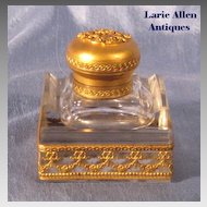 French Empire Crystal Dore Bronze Inkwell
