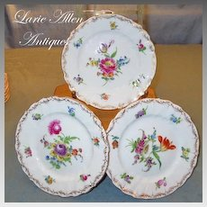 "Richard Klemm Dresden Porcelain Floral 5.5"" Plates Set of 6"