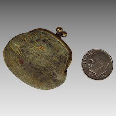 Miniature Leather Purse for French Doll