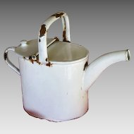 French Enamelware White Watering Can