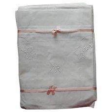 Monogram H R European 2 Pillow Shams Two Single Sheets Set