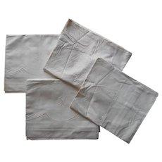 Monogram J N European 2 Pillow Shams Two Single Sheets Set