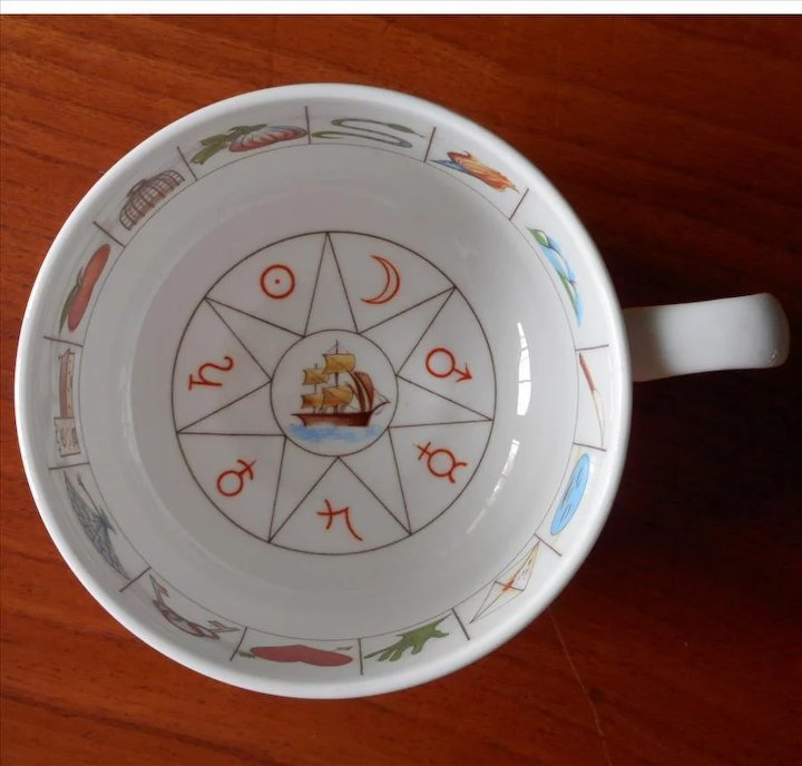 11135740a1c Fortune Telling Cup Saucer Royal Kendal Zodiac Vintage Bone China ...