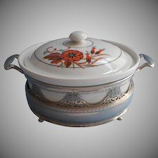 Art Deco Royal Rochester Casserole Dish In Frame Vintage 1920s