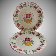 American Limoges Old Dutch China Vintage 2 Plates
