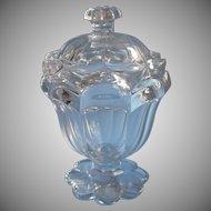 Boston Sandwich Petal Loop Antique Glass Sugar Jar Bowl Lid Exceptional