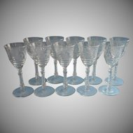 Rock Sharpe Wine Glasses Libbey Vintage 3005 4 Set 10 Dessert 3 Ounce