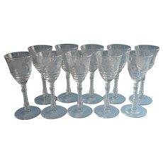 Set 10 Dessert Wine Glasses Libbey Rock Sharpe Vintage 3005 4