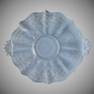 Fostoria Navarre 327 Baroque Vintage Etched Glass Cake Serving Plate