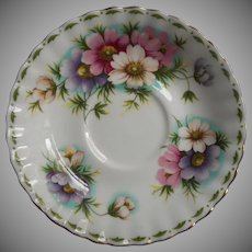 Royal Albert Cosmos Saucer Vintage English Bone China