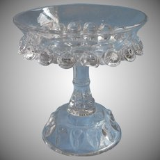 EAPG Pattern Small Relish Compote Thompson Torpedo Antique Pressed Glass