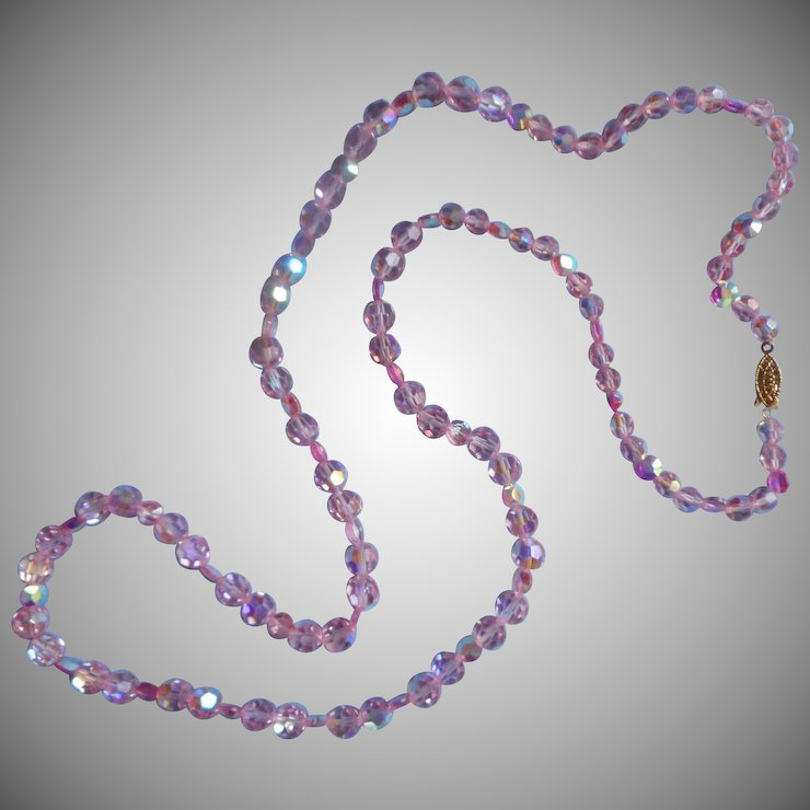 long bead necklace layering shipping product beads glass free jewelry romance iridescent crystal for watches on sweet making