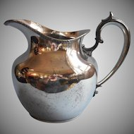Antique Silver Water Pitcher Shabby Elegant 1910s A Bit Battered