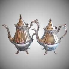 Wallace Baroque Vintage Silver Plated Teapot Hot Water Coffee Pot