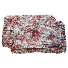 Vintage Constance Pair King Pillow Shams Vintage Ralph Lauren Ruffled