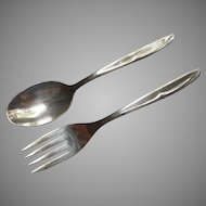 Concept 1957 Child's or Youth Set Fork Spoon Vintage Silver Plated