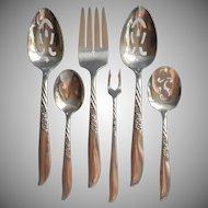 Always 1958 Wildwood Serving Pieces Flatware Vintage Silver Plated
