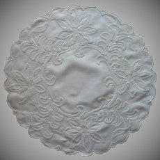 Antique Centerpiece Doily Hand Embroidery Ric Rac Work