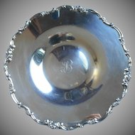 Monogram B Vintage Lunt Silver Plated Salver Tray