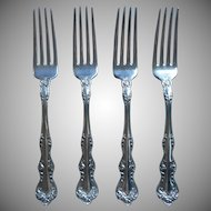 Orient Venice 1908 Antique Silver Plated Forks Ornate Floral