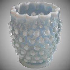 Antique Opalescent Hobnail Spooner Northwood Glass Use As Vase