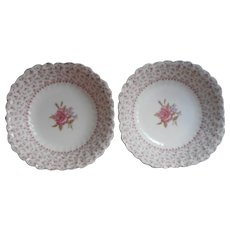 Rose Bouquet Johnson Brothers Vintage 2 Bowls England China