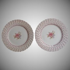 Rose Bouquet Johnson Brothers Vintage 2 Dinner Plates England China