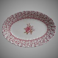 Rose Bouquet Johnson Brothers Vintage Relish Dish Gravy Under Plate England China