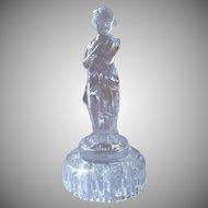 Cambridge Glass Draped Lady Figural Flower Frog Vintage For Centerpiece Bowl