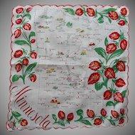Vintage Minnesota State Hankie Printed Cotton Unused Original Label Franshaw