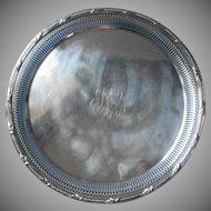Vintage Gorham Tray Monogram P M P Pierced Reticulated Rim