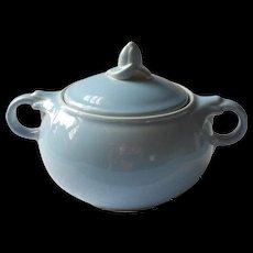 Luray Pastels China Blue Sugar Bowl With Lid Vintage Taylor Smith Taylor