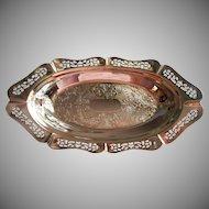 Vintage Chrome Bread Tray Ornate Pierced Farberware Krome Kraft
