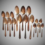 1928 Monogram T. C. A. Or Organization Vintage Silver Plated Legacy Demitasse Soup Spoons Teaspoons
