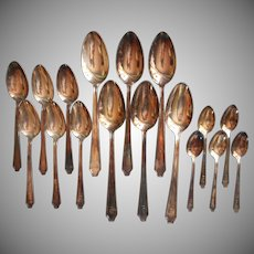 1928 Monogram T. C. A. Or Organization Vintage Silver Plated Legacy Demitasse Soup Spoons Teaspoons