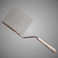 Lady Hamilton 1932 Cake Breaker Comb Vintage Silver Plated Very Hard To Find