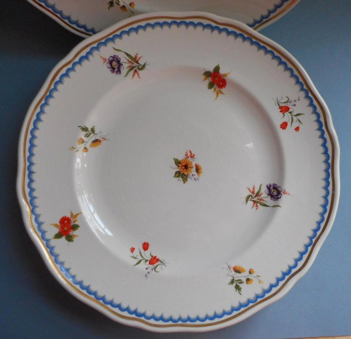 Wedgwood Lowestoft 6 Dinner Plates Vintage China & Wedgwood Lowestoft 6 Dinner Plates Vintage China : Mercy Maude ...