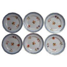 Wedgwood Lowestoft 6 Bread Plates Vintage China - Red Tag Sale Item