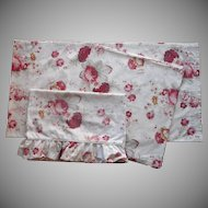 Waverly Norfolk Rose Vintage Curtain Panels Pillowcases Garden Room