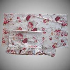 Waverly Norfolk Rose Vintage Curtain Panels Pillowcases Garden Room