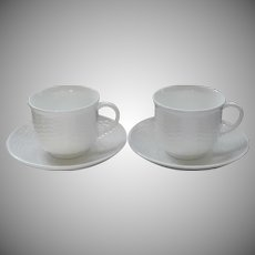 Wedgwood Nantucket 2 Cups 2 Saucers