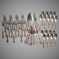Dessert Set Flatware Vintage 1950s Silver Plated Canada Maple Leaf On Back