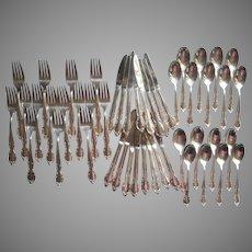Dessert Set Flatware Vintage 1950s Silver Plated Canada Maple Leaf On Back