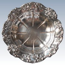 Vintage Towle Ornate Silver Plated Candy or Nut Bowl Roses