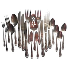 Homestead Vintage Stainless Steel Pie Dessert Server Knives Spoons Forks Serving Pieces
