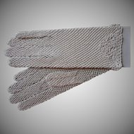 Vintage Gloves Crocheted Lace Never Worn Bone or Natural Color