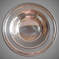Vintage Pierced Rim Silver Plated Large Bowl Fruit Serving Centerpiece