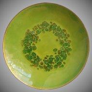 Vintage Enamel Dish Bovano Midcentury Green